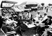Eating, drinking and socialising, Henley Regatta in the summer of 1987. - John Harris - 04-07-1987