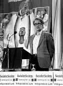 Prominent sociologist and Marxist thinker, Ralph Miliband, speaking at the Socialist Society Conference. Chesterfield - John Harris - 26-10-1987
