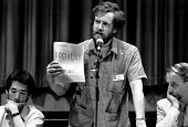 Jeremy Corbyn MP, speaking at the Socialist Society Conference, Sheffield, 1989. - John Harris - ,1980s,1989,Conference,conferences,Corbyn,Jeremy Corbyn,Labour,Labour Party,Left,left wing,Leftwing,POL,Policy,political,POLITICIAN,POLITICIANS,politics,Review,Sheffield,Socialist,socialists,SPEAKER,S