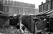 Housing conditions in Liverpool in the mid-1970s - terraced housing in the process of being torn down - John Sturrock - 06-11-1974