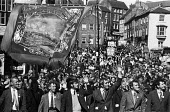 Durham Miners Gala, 1974. Miners from Marley Hill Lodge and their families take part in the annual Big Meeting. - John Sturrock - 14-07-1974