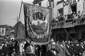 Durham Miners Gala, 1974. Miners and their families march into Durham city to take part in the annual Big Meeting. - John Sturrock - 14-07-1974
