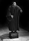 Pete Postlethwaite in Corialanus by Bertolt Brecht, adapted from Shakespeare, Everyman Theatre, Liverpool,1975. This was the British premiere of the play as staged in English; the only other productio... - John Sturrock - 1970s,1975,ACE,act,acting,actor,actors,alienation,arts,Bertolt Brecht,Brechtian,culture,Dialectical theatre,drama,DRAMATIC,entertainment,epic theatre,GERMAN,Germany,Liverpool,maker,makers,making,male,