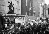 UCAAT banner on Right To Work march passes by TUC headquarters, which had been occupied by campaigners just the day before, London, 1975. - John Sturrock - 1970s,1975,activist,activists,against,banner,banners,campaign,campaigner,campaigners,campaigning,CAMPAIGNS,Congress House,DEMONSTRATING,demonstration,DEMONSTRATIONS,headquarters,HQ,IMG,jobless,jobseek