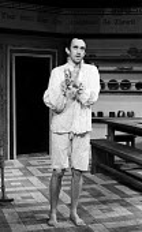 Jonathan Pryce in Lenz written by Mike Stott, Hampstead Theatre, London, 1976. - John Sturrock - 08-04-1976