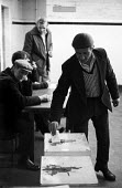 Miners vote in workplace ballots on the issue of early retirement, Snowdon Colliery, Kent, 1976. - John Sturrock - 08-12-1976