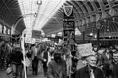 Miners arrive at Paddington Station from Cornwall to make their way to Westminster to a demonstration & lobby by Cornish Tin miners against closure of their mines and loss of their jobs. - John Sturrock - 03-05-1978