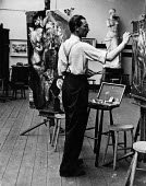Still life art class London, 1947. .... - Lallah Churchill - 1940s,1947,ACE,art,artist,artists,arts,artwork,artworks,brush,Churchill,cities,city,college,COLLEGES,culture,draw,drawing,easel,edu,educate,educating,education,educational,figure,figures,knowledge,Lal