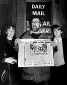 Teachers For Peace holding a scurrilous article about them in the Daily Mail. .... - Melanie Friend - 1980s,1982,activist,activists,against,Anti War,Antiwar,CAMPAIGN,Campaign for nuclear disarmament,campaigner,campaigners,CAMPAIGNING,CAMPAIGNS,CND,DEMONSTRATING,demonstration,DEMONSTRATIONS,pacifism,pe
