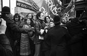 Police grapple with protestors outside the offices of the Islington estate agents, Prebble, during a demonstration against the active role of the company in the eviction of Islington tenants from thei... - Mike Sheridan - 07-12-1974