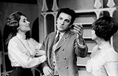 Man And Superman by GB Shaw, New Arts Theatre, London, 1965. Sian Phillips (L) Zena Walker and Alan Badel - Patrick Eagar - 23-11-1965