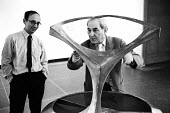 Naum Gabo, Russian sculptor prominent in the Constructivism movement and a pioneer of Kinetic Art, Tate Gallery, London, 1966. - Patrick Eagar - 10-03-1966