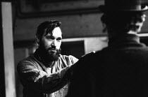 Charles Marowitz, directing Fanghorn by David Pinner, Fortune Theatre, London, 1967. - Patrick Eagar - 31-10-1967