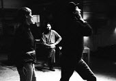 Charles Marowitz, centre, directing Glenda Jackson and Peter Bayliss in rehearsals of Fanghorn by David Pinner, Fortune Theatre, London, 1967. - Patrick Eagar - 31-10-1967