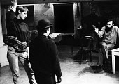 Charles Marowitz, seated, directing Glenda Jackson & Peter Bayliss in rehearsals of Fanghorn by David Pinner, Fortune Theatre, London, 1967. - Patrick Eagar - 31-10-1967