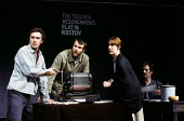 The Mother by Bertolt Brecht, Half Moon Theatre Company at the Roundhouse Theatre, London, 1973. Mary Sheen as Pelagea Vlasova, The Mother, Alex Leppard as Pavel Vlasov, left, and Geoffrey Wilkinson a... - Peter Harrap - 07-05-1973