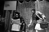 The Mother by Bertolt Brecht, Half Moon Theatre Company at the Roundhouse Theatre, London,1973. Mary Sheen as Pelagea Vlasova, The Mother and Robin Summers as Andrei Nakhodka. - Peter Harrap - 07-05-1973