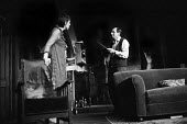 The Banana Box, Hampstead Theatre, London, 1973. The play was later turned into Rising Damp, a highly successful ITV comedy starring many of the original cast from this theatre production. Leonard Ros... - Peter Harrap - 1970s,1973,ACE,act,acting,actor,actors,arts,Banana,BANANAS,Box,boxes,cities,city,comedy,culture,Damp,De,drama,DRAMATIC,entertainment,Frances,ITV,La,Leonard,London,maker,makers,making,male,man,men,peop
