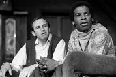 The Banana Box, Hampstead Theatre, London, 1973. The play was later turned into Rising Damp, a highly successful ITV comedy starring many of the original cast from this theatre production. Don Warring... - Peter Harrap - 1970s,1973,ACE,act,acting,actor,actors,arts,BAME,BAMEs,Banana,BANANAS,black,BME,bmes,Box,boxes,cities,city,comedy,cultural,culture,Damp,diversity,Don,drama,DRAMATIC,entertainment,ethnic,ethnicity,ITV,