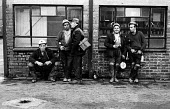 Miners preparing to go on shift at Markham Main Colliery in Derbyshire, site of a lift shaft accident at the pit on 30th July, 1973 which resulted in the deaths of 18 of their workmates. - Peter Harrap - 10-08-1973
