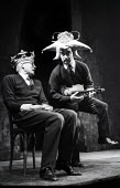 Alan Bennett & Dudley Moore playing the 'rustics' from 'The End Of The World' sketch, written by Peter Cook, in a performance from the Beyond The Fringe show at the Fortune Theatre in London in 1961.... - Romano Cagnoni - 11-06-1961