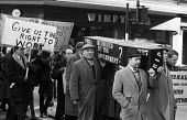 TSR-2 British Aircraft Corporation (BAC) defense industry workers protest in London with a coffin against British Government buying aviation supplies from US rather than British sources thereby threat... - Romano Cagnoni - 09-02-1962