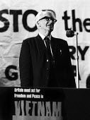 Peace campaigner, Fenner Brockway, speaking at a rally to Stop The War in Vietnam in London in 1965. - Romano Cagnoni - 15-10-1965