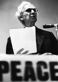 Philosopher, Bertrand Russell, speaking at a rally to Stop The War in Vietnam in London in 1965. - Romano Cagnoni - 1960s,1965,activist,activists,against,anti,anti war,anti-Vietnam,Antiwar,Bertrand,CAMPAIGN,campaigner,campaigners,CAMPAIGNING,CAMPAIGNS,cities,city,DEMONSTRATING,demonstration,DEMONSTRATIONS,London,ma