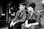 Peter O'Toole & Barbara Jefford, Ride A Cock Horse by David Mercer, Piccadilly Theatre, London 1965 - Romano Cagnoni - 10-06-1965