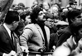 Tariq Ali at the front of a demonstration at the US Embassy & a rally in Trafalgar Square against the Vietnam War, London, 1968. - Romano Cagnoni - 27-10-1968