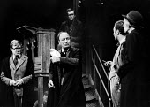 Forty Years On written by Alan Bennett, staged at the Apollo Theatre in London, 1968. With, L to R: ALan Bennett, John Gielgud, Paul Eddington and Dorothy Reynolds - Romano Cagnoni - 24-10-1968