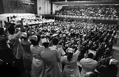 TUC conference, Brighton, 1982. Ovation for, and from, uniformed NHS staff in the gallery during the debate on support for the NHS. - Stefano Cagnoni - 09-09-1982