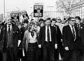 Miners support demonstration in London led by Tony Benn MP, Arthur Scargill & MIck McGahey of the NUM almost a year after the national Miners Strike had begun. Also at the front of the march are Anne... - Stefano Cagnoni - 24-02-1985