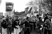 National demonstration through London calling for sanctions against South Africa, the release of Nelson Mandela, imprisoned in South Africa and an end to apartheid. - Stefano Cagnoni - 02-11-1985