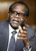 Oliver Tambo, President of the African National Congress (ANC). - Stefano Cagnoni - 04-10-1985