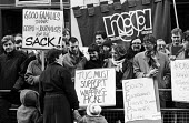 Wapping Printworkers sacked by News International lobby the TUC seeking trade union support for their industrial dispute. London - Stefano Cagnoni - 28-01-1986