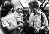 Dr. Wendy Savage with a mother and her baby whose birth she had administered, supportive of her campaign for reinstatement at the London Hospital after she was cleared of charges of negligence in mate... - Stefano Cagnoni - 10-07-1986