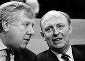 Roy Hattersley, Deputy Leader and Neil Kinnock, Leader of the Labour Party, Labour Party Conference, Blackpoool, 1987 - Stefano Cagnoni - 01-10-1987