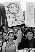 A nurse in uniform joins other women protesting against the Alton Bill on abortion, before a meeting organised by LIFE, the anti-abortion group, London, 1987. The Alton Bill, a Private Member's Bill,... - Stefano Cagnoni - 1980s,1987,abortion,activist,activists,against,CAMPAIGN,campaigner,campaigners,CAMPAIGNING,CAMPAIGNS,choice,choose,choosing,DEMONSTRATING,Demonstration,DEMONSTRATIONS,equal rights,equality,female,femi