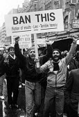 British muslems protest against the publication of Satanic Verses written by Salman Rushdie, considered by many to be a heresy against Islam, London 1989. - Stefano Cagnoni - &,1980s,1989,activist,activists,against,anger,angry,Asian,asians,BAME,BAMEs,belief,Black,blasphemy,BME,bmes,CAMPAIGN,campaigner,campaigners,CAMPAIGNING,CAMPAIGNS,conviction,cultural,culture,DEMONSTRAT