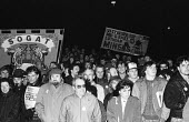 Mass picket at News International plant, Scotland in solidarity with sacked print workers at Wapping - John Smith - 06-03-1986