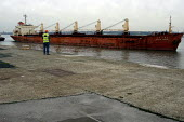Cargo vessels in the Port of Liverpool. - Rob Bremner - 22-02-2003