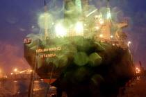 Turkish ship docked in Liverpool. MV ORHAN EKINCI - Rob Bremner - 2000s,2006,boat,boats,Bulk,cargo,carrier,dock,docked,docks,EBF Economy,export,exports,harbor,harbors,harbour,harbours,import,IMPORTED,imports,marine,maritime,maritime industry,nautical,port,Port of Li