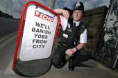 Police constable Chris Brown who is a community safety officer in the Bootle area of Merseyside. Chris is expected to mingle with the community and mediate in disputes, his reassurance role also requi... - Rob Bremner - 2000s,2006,adult,adults,against,anti,anti social behavior,anti social behaviour,anti socialanti social behavior,antisocial,antisocial behaviour,antisocial behaviour order,arrest,ARRESTED,ARRESTING,asb