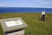 William Bremner who suffers from dementia and has a heart condition, Dunnet Head, Caithness. - Rob Bremner - 2000s,2007,age,ageing population,alzheimirs,and,angina,brain,caithness,cliff,cliffs,coast,coastal,coasts,cognitive,dementia,deterioration,elderly,functions,hea health,ill,illness,ILLNESSES,intellectua