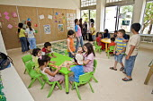 A temporary classroom at Nahr al-Bared Palestinian refugee camp. - Ron Coelle - 13-06-2008