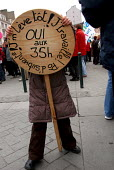 Demonstrations against the reform of the 35 hour week. Rennes France - Jean Claude MOSCHETTI - 05-02-2005