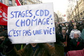 Demonstrations against the reform of the 35 hours week, Paris France - Jean Claude MOSCHETTI - 05-02-2005