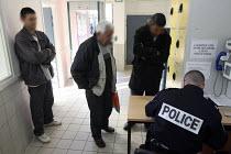 Immigration detention center, Marseille. France. - Ian HANNING - ,2000s,2006,adult,adults,age,ageing population,Asylum Seeker,Asylum Seeker,BME Black minority ethnic,center,centre,CLJ,deportation,deportations,deporting,detained,detainee,detainees,detention,Detentio