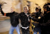 Arrest of a youth by the police. Riots after the death of two young people killed in a collision with police car and their motorbike, Villiers le Bel, France - Sebastien ORTOLA - 26-11-2007